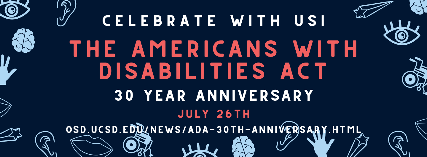 Banner containing information about the ADA's 30th anniversary - Celebrate with us