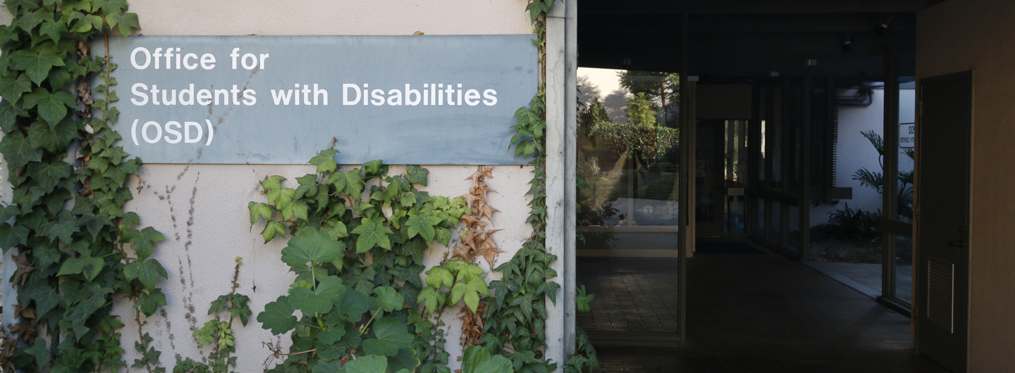 Image of sign in front of the Office for Students with Disabilities